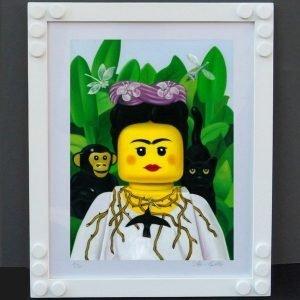 Frida Kahlo autoritratto con collana di spine - Stampa di Stefano Bolcato