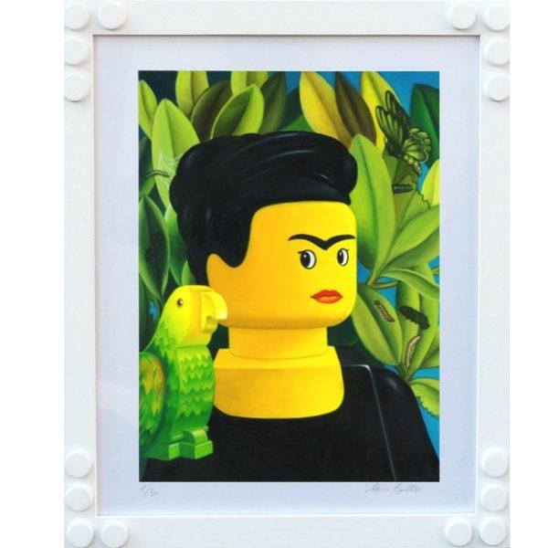Frida Kahlo autoritratto con pappagallo - Stampa di Stefano Bolcato