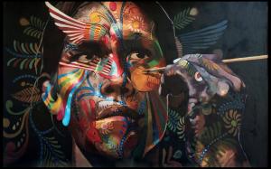 Adrian Takano Rojas, Amerindian Street Art