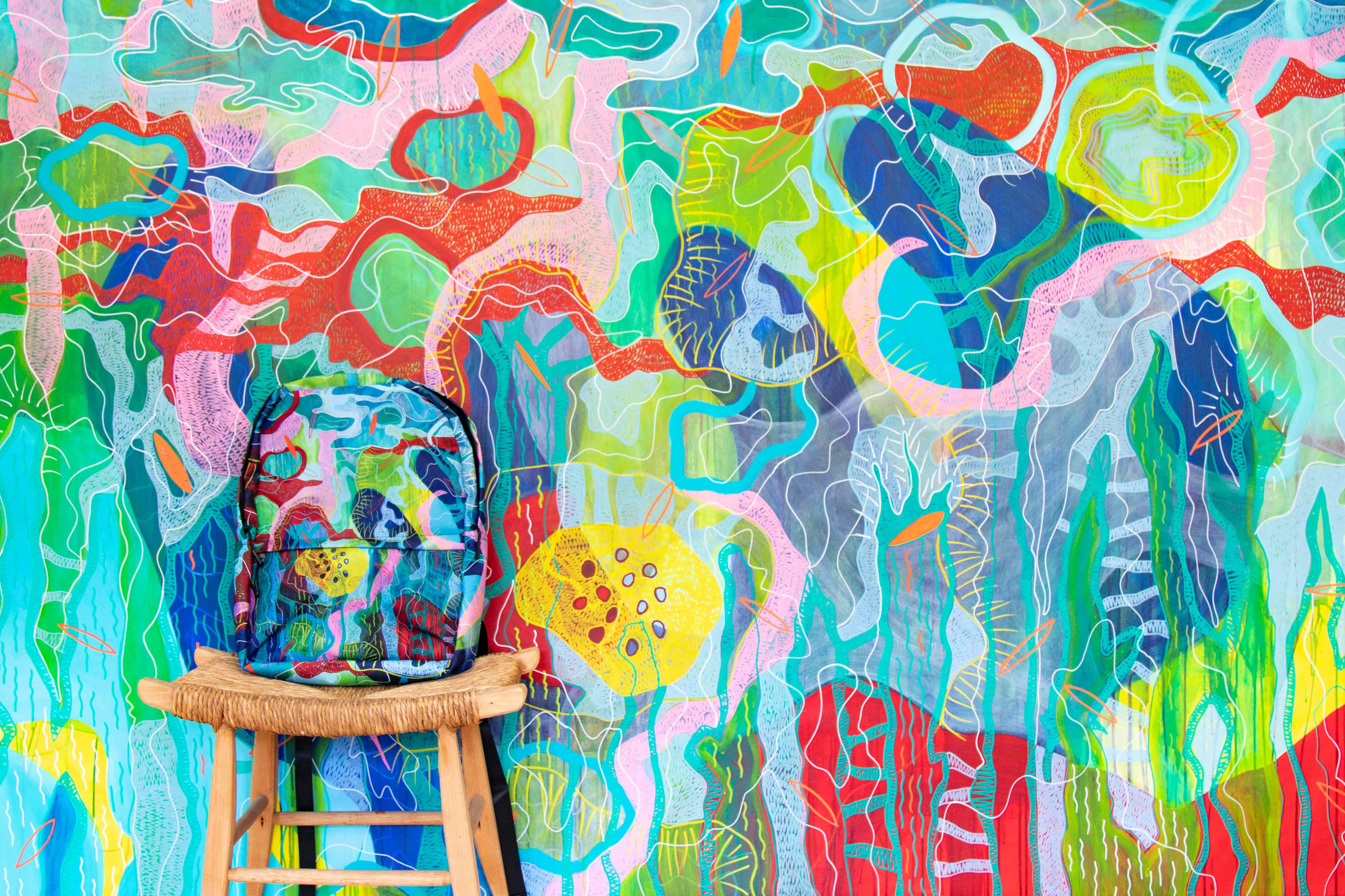 d8c8fc449bf15 Backpack- Giada Bianchi Art (blu) - Artemperature